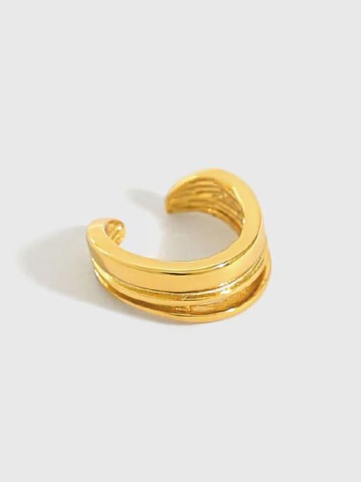 Dak Phoenix 925 Sterling Silver Irregular Minimalist Huggie Earring [Single] 0